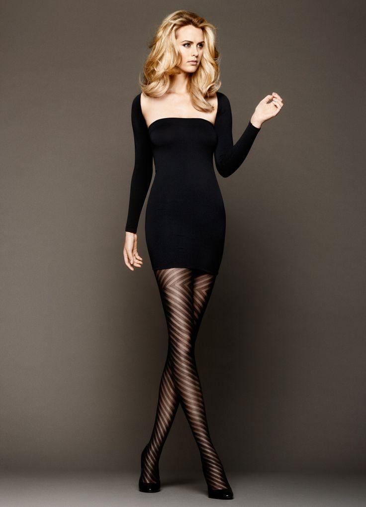 Fashion legwear with a dress