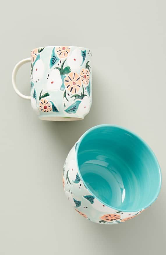 Anthropologie Mathilde Mug Nordstrom Product Image 3 In 2020 Pottery Painting Designs Ceramic Cafe Painted Mugs