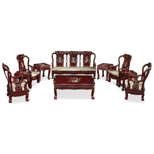 Rosewood furniture achieves its ultimate perfection and artistry in this grand imperial prosperity design sofa set. Curvature and design are carved in minute detail. Peaches, the symbol of longevity, are carved on top of the chair. The arms of the chair are carved out with goldfish design, the... more details available at https://furniture.bestselleroutlets.com/living-room-furniture/living-room-sets/product-review-for-china-furniture-online-rosewood-living-room-set-imperial-c