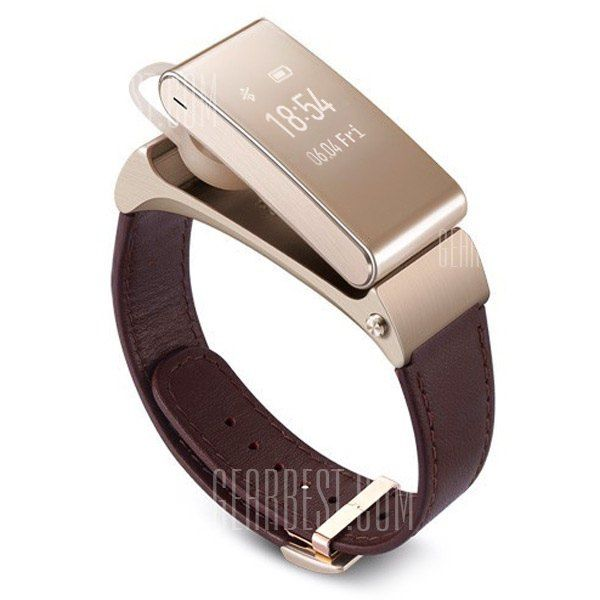 HUAWEI TalkBand B2 Bluetooth Genuine Leather Band Smart Watch Water Resistance Wristband Wireless Headset-178.78 and Free Shipping| GearBest.com