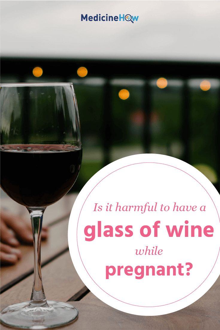 Is it harmful to have a glass of wine while pregnant?