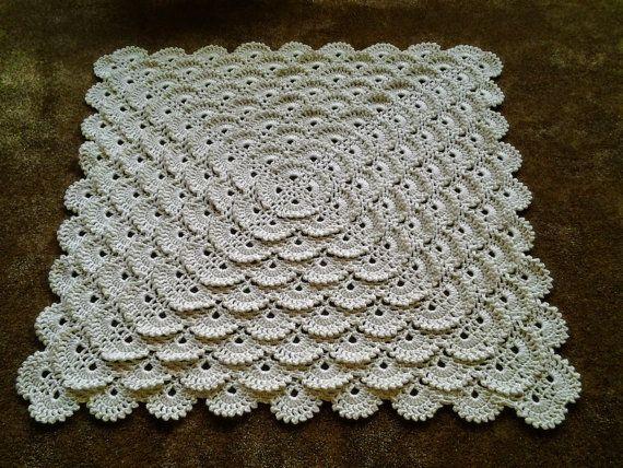 Fluffy Meringue Stitch Blanket by CuddleinCrochet on Etsy, $48.00