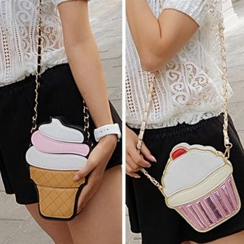 Cute Cartoon Women Ice Cream/ Cupcake Shape Mini Shoulder Bag Metal Chain     http://www.newdress.com/cute-cartoon-women-ice-cream-cupcake-shape-mini-shoulder-bag-metal-chain-p-34488.html