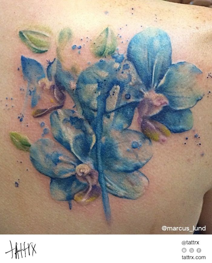 Marcus Lund Tattoo - Blue Orchids tattrx.com/artists/marcus-lund