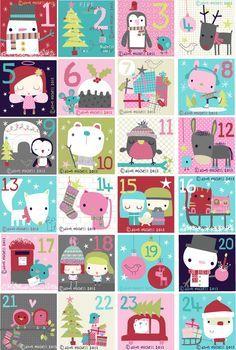 étiquettes pour un calendrier de l'avent #adventcalendar