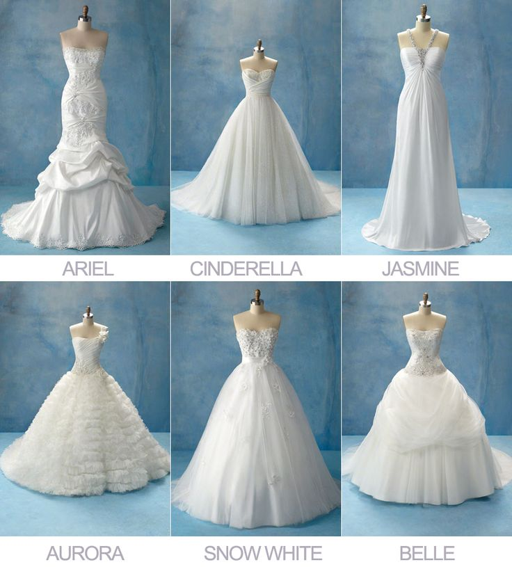 Disney princesses wedding dress collection by alfreda for Wedding dress disney collection