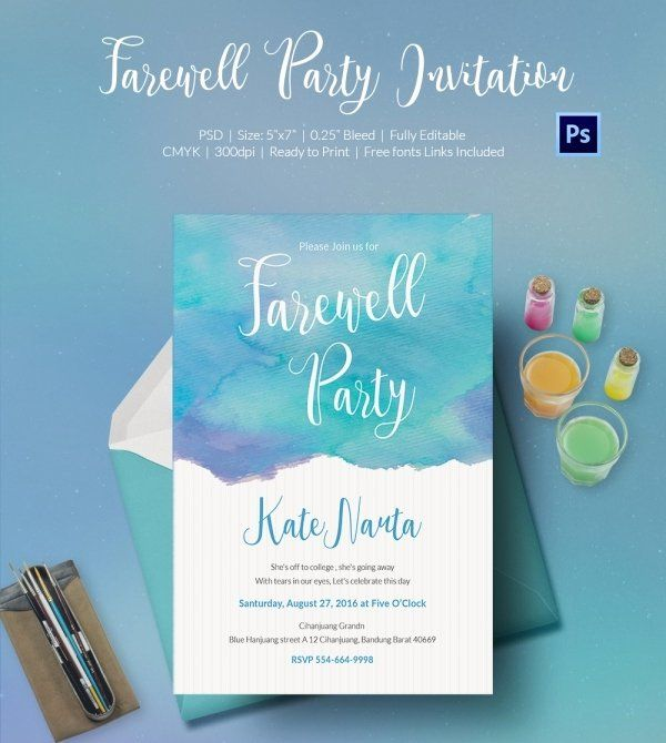 Free Farewell Party Invitation Template Best Of Farewell Party Invitation Templat Party Invite Template Going Away Party Invitations Farewell Party Invitations