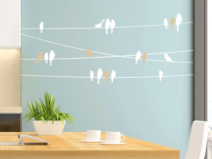 Die besten 25+ Wandtattoo vögel Ideen auf Pinterest Vogel - wandtattoo für badezimmer