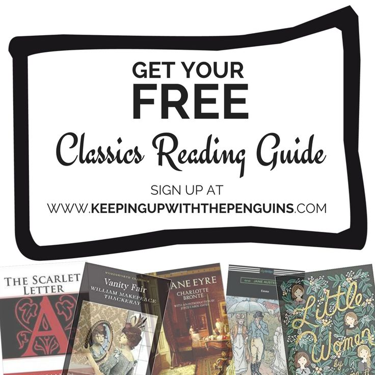 Don't forget that tomorrow is the last day to pick up your freebie Classics Reading Guide from Keeping Up With The Penguins! Click through now to get it while you can! #booklover #bookrecommendation #classicliterature