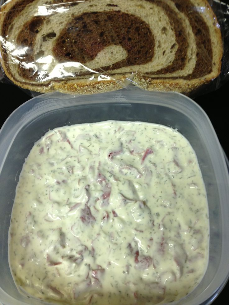 Rye beef dip:    Ingredients: 2 cups mayonnaise (Hellman's, is my favorite) 2 cups sour cream  1 Tbs Italian Parsley leaves, chopped 1 Tbs pampered chef onion, onion. 2 Tbs dill 1 packet Dried beef/ or I use the brand Buddig Beef. (In the lunch meat section) it has way less sodium. Cut up Wegmans rye / pumpernickel bread and enjoy.