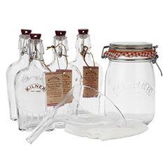 Sloe-ly Does It! Kilner 8-piece sloe gin making kit, John Lewis