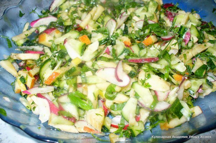 Салат со свежими огурцами фото