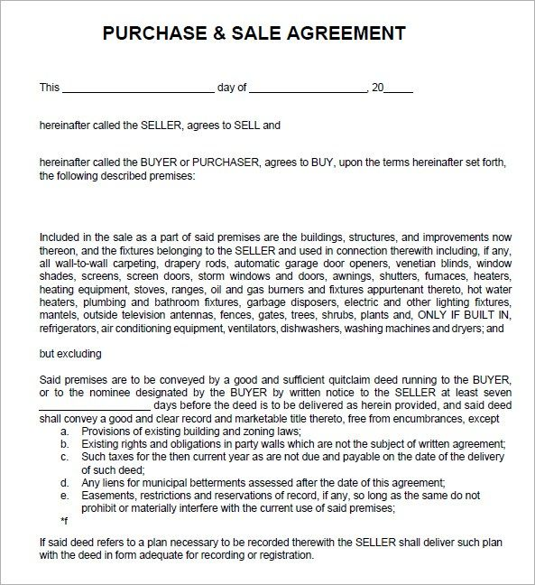 7 Free Sales Agreement Templates Excel Pdf Formats Contract