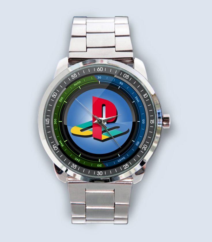 New Playstation Logo Custom Stainless Steel Wrist Watch