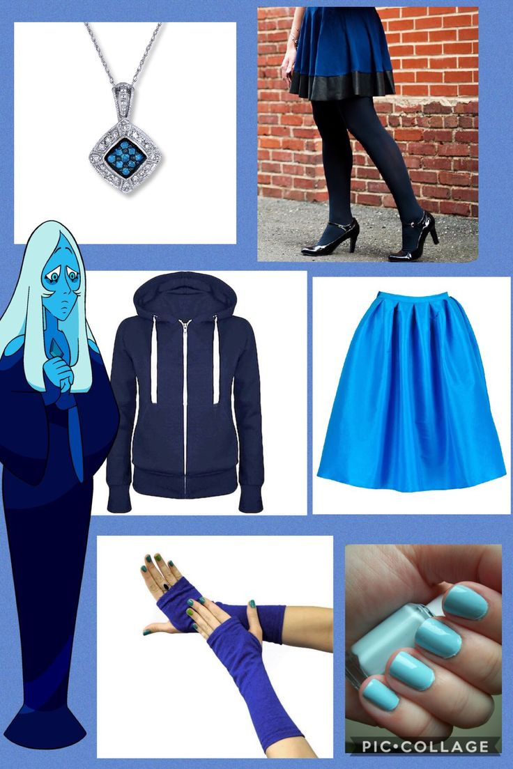 I don't own Steven Universe or any of the companies that made these clothes. This is an outfit inspired by Blue Diamond from Steven Universe. I made this on pic collage.
