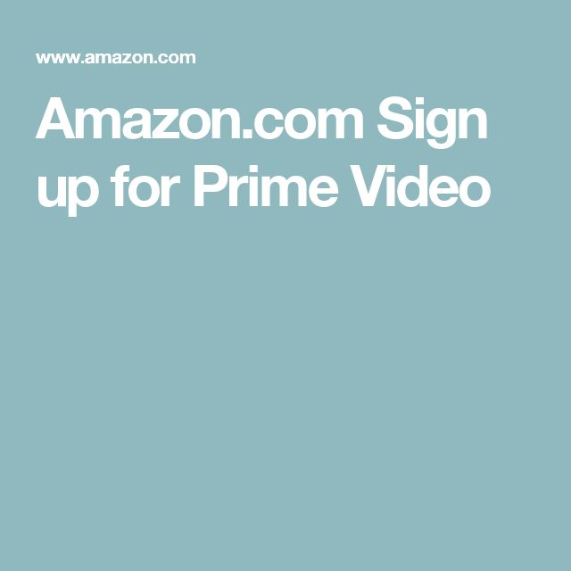 Amazon.com Sign up for Prime Video