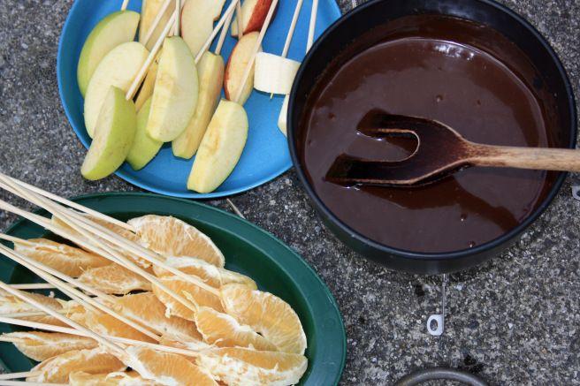 Sjokoladefondue med eple