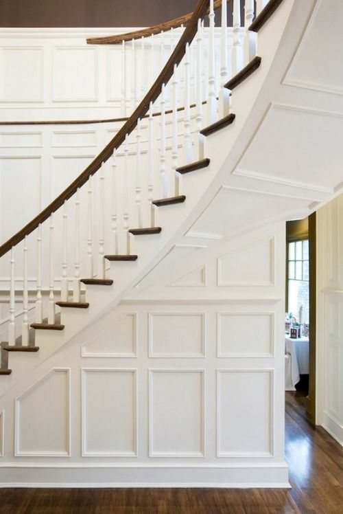 Stunning staircase in this traditional home.