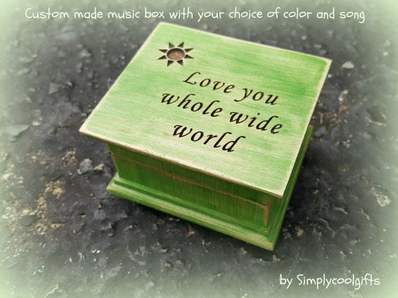 music box wooden music box custom made music by Simplycoolgifts