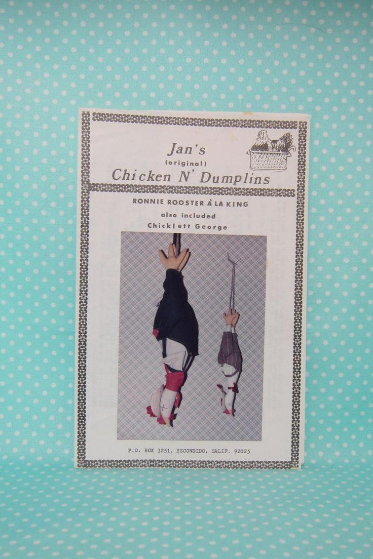 Chicken Pattern, Jan's Chicken n' Dumplings Soft Sculpture. Rubber Chicken Style Country Chicken. Funny Kitchen Chicken Decoration. by FashionSew on Etsy