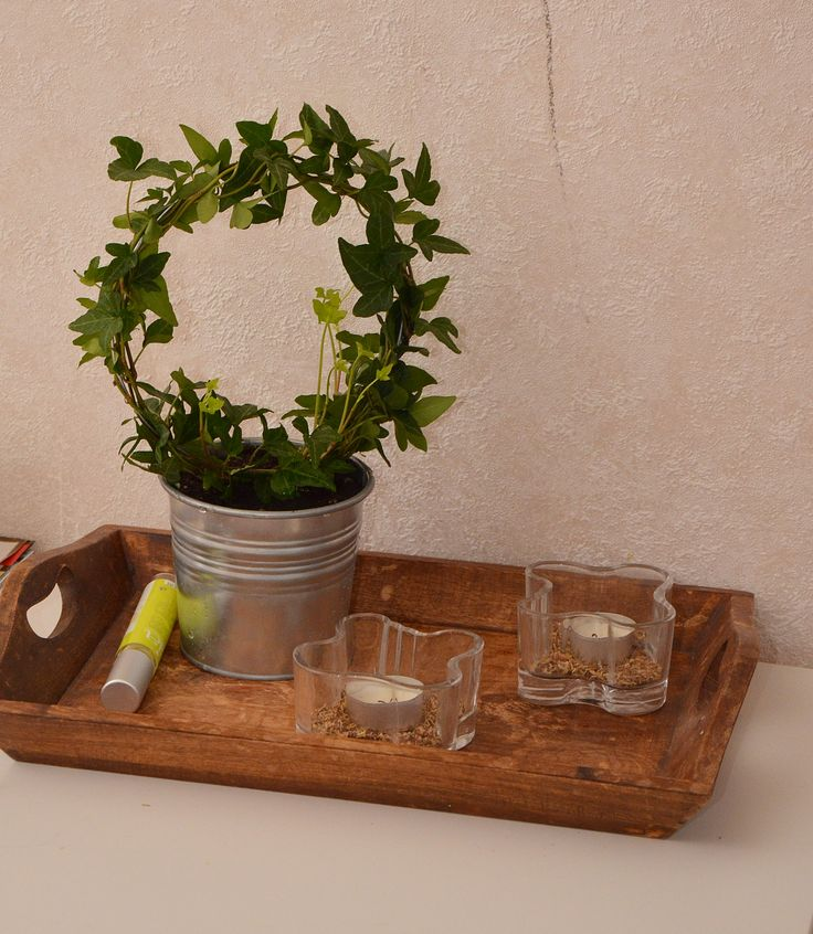 Beautiful old wooden tray ♥