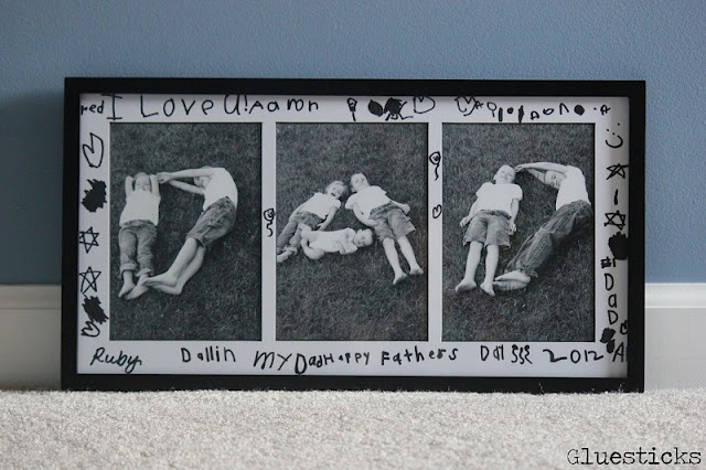 DIY Father's Day Photo Frame.  Cute idea!