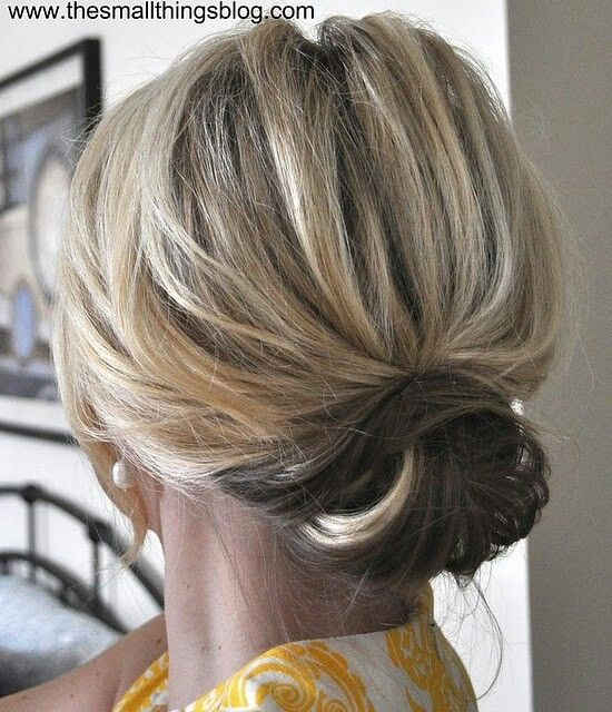 Cute updo for short hair Hair long beautiful hair Pinterest