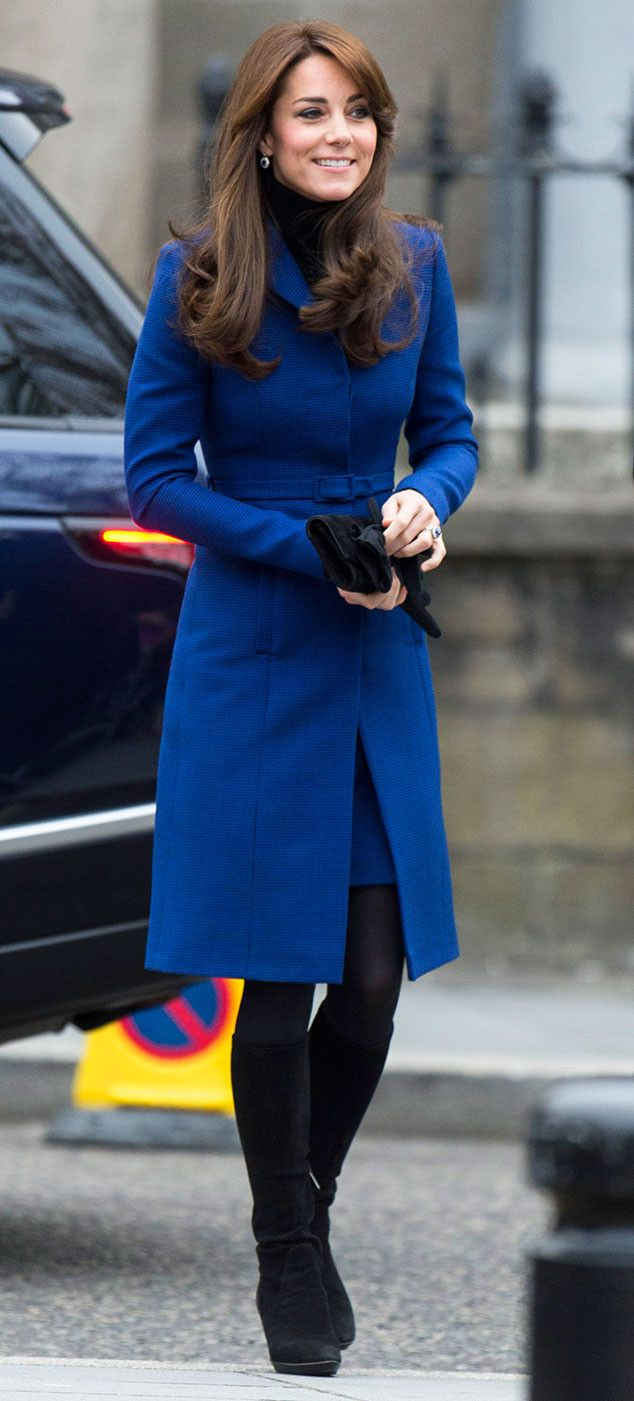 Kate Middleton Looks Regal in a Royal Blue Coatdress, Reveals Safety Concerns for Prince William and Prince George | E! Online Mobile