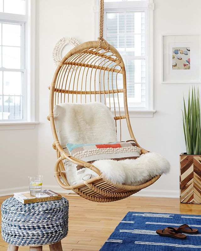 Hanging Rattan Chair Yoga Sequence For Seniors In 2019 Jens Faves Room Living Chairs Serena And Lily