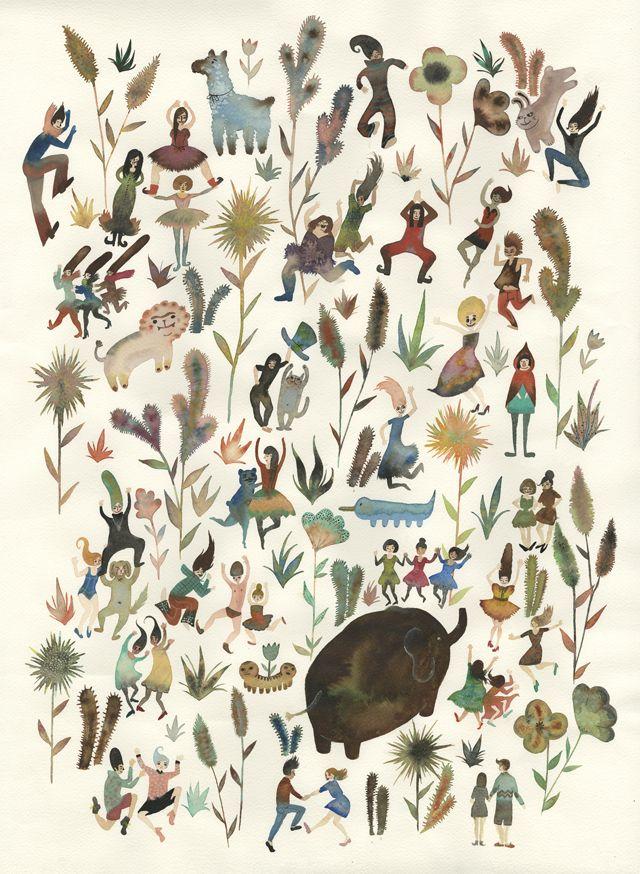 odori  - masuko jo, cute print for kiddies room maybe?