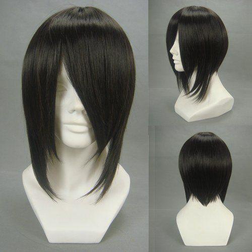 Anime Kuroshitsuji Black Butler Sebastian Michaelis Cosplay Wig Black Short Synthetic Hair Cheap Men Costume party Wigs