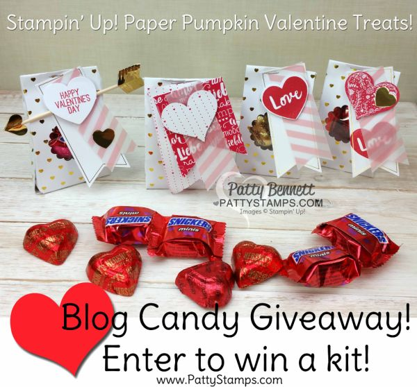 Blog Candy Giveaway from PattyStamps.com - Valentine goodie bag Paper Pumpkin kits!!