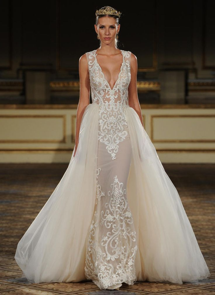 Best 25 detachable wedding dress ideas on pinterest for Short wedding dress with removable train