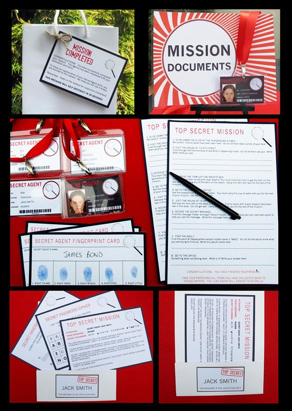 Spy / Secret Agent Birthday Party Invitation & Printable Party Collection