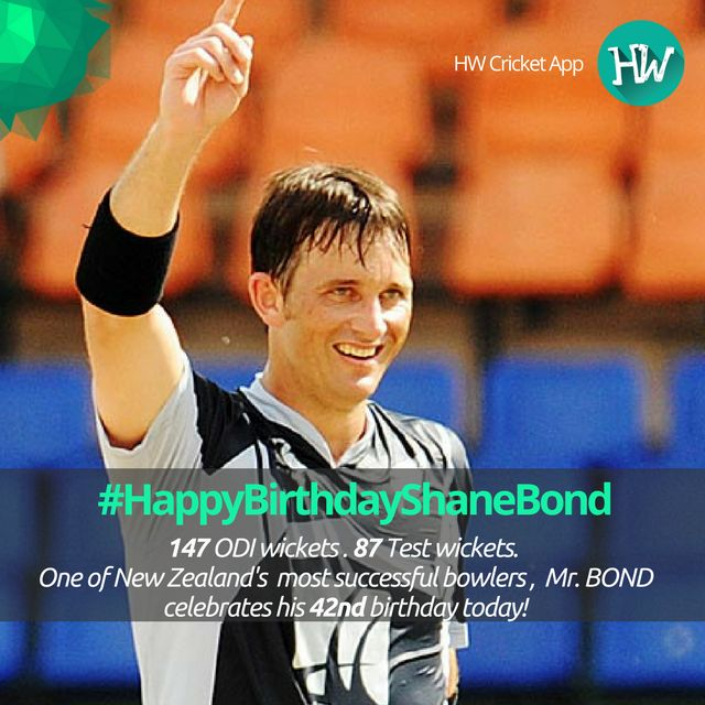 #HappyBirthdayShaneBond New Zealand's fastest bowler and a legend in the history of cricket, Shane Bond celebrates his birthday today! #NZ #cricket #CT17
