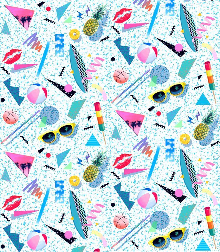The Club of Odd Volumes Pillowcase single – 80s collage | The Goodness Bureau