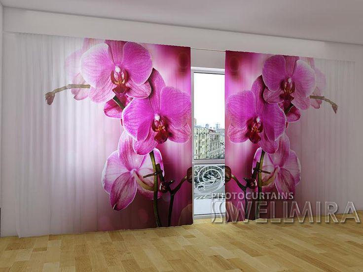 The Purple Orchids 2 #Wellmira #ModernCurtains #PhotoCurtains #PanoramicCurtains  #Foto Vorhänge #Foto cortinas #Orchid #Purple