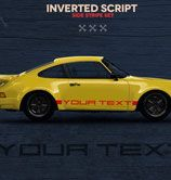 Sticker side skirts, negative look, matches (replica) the 911 of the B …
