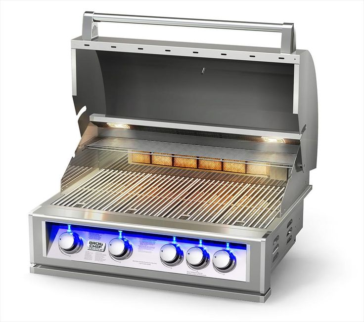 BuildDirect – Natural Gas Grills – Pro-Series 32-Inch Built-In LP/Gas Grill with Blue LED - Profile View