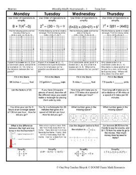 weekly math homework q2 3 answers 2nd grade
