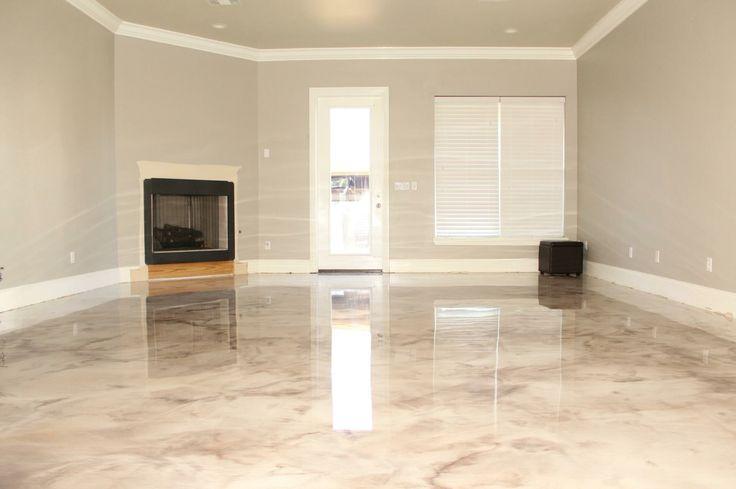 Marbleized Metallic Epoxy Epoxy Floors Decorative