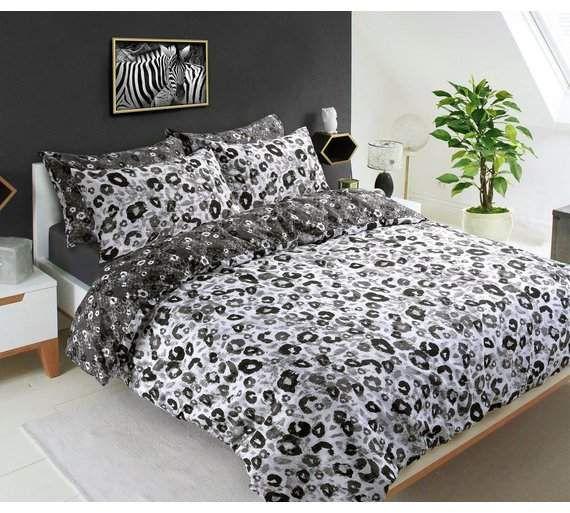 Pieridae Grey Animal Print Bedding Set Double Gray Duvet Cover