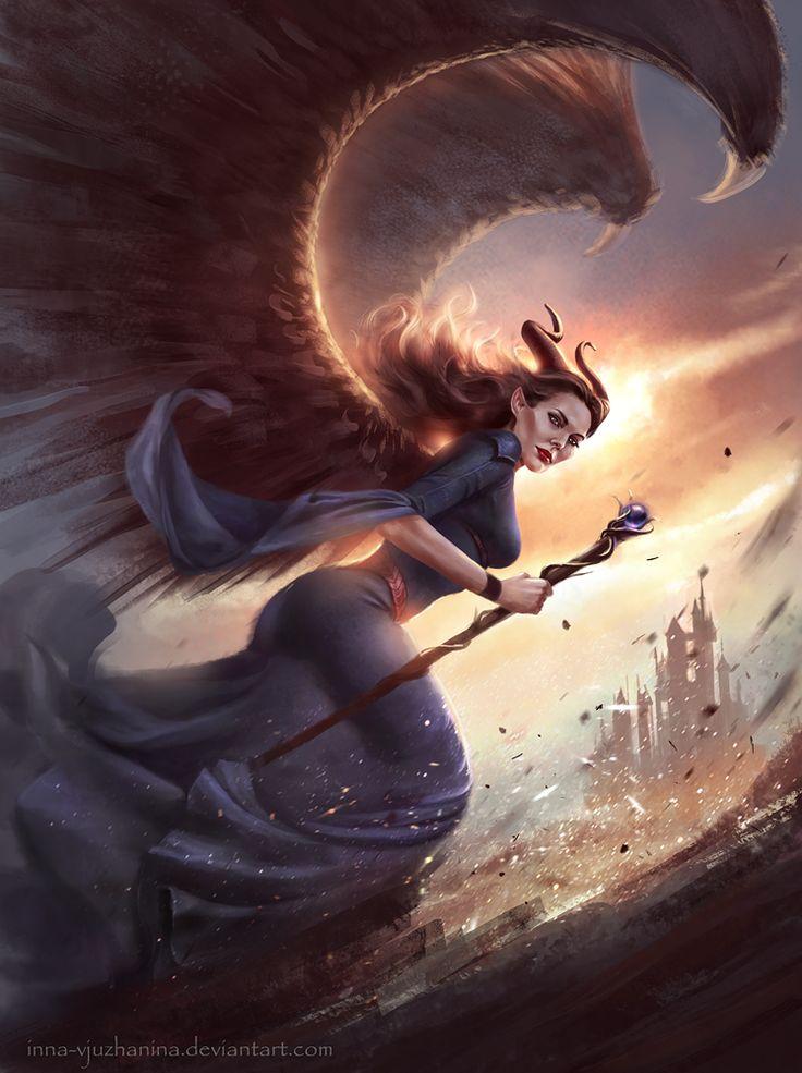 Maleficent by Inna-Vjuzhanina.deviantart.com on @deviantART