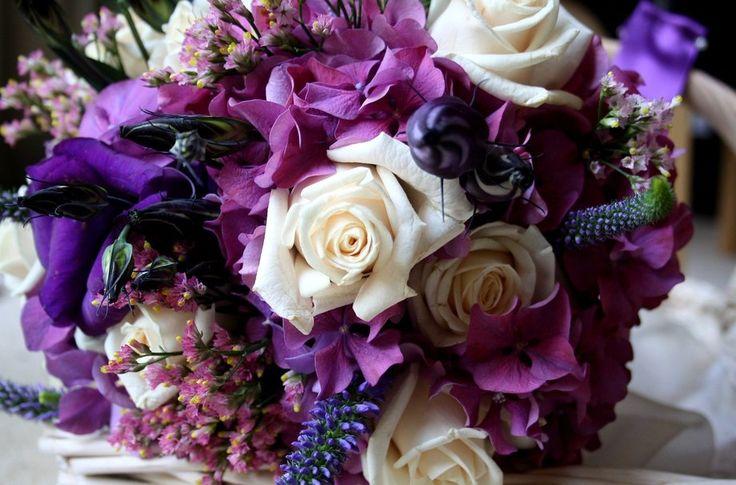 flores roxas, rosas, hortênsia, eustoma Vetor - ForWallpaper.com