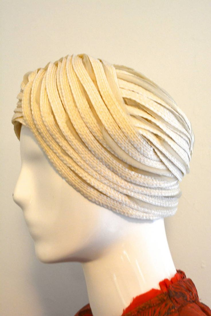 Christian Dior Turban Hat in Ivory 5