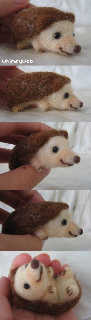 Whimsy Web » Archive » New Needlefelt! – Needle Felted Hedgehog for Ashley & Kelsey