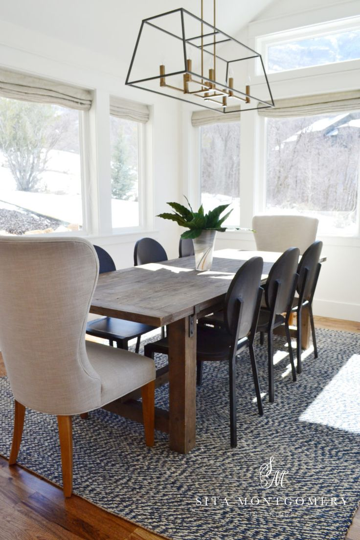 Dining Room Table With High Back End Chairs Love Mixing Around To Create