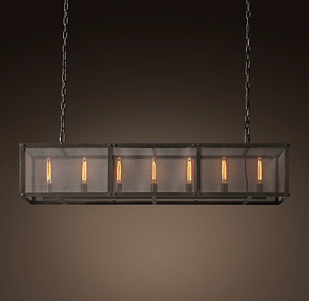 Riveted Mesh 5875 Rectangular Chandelier