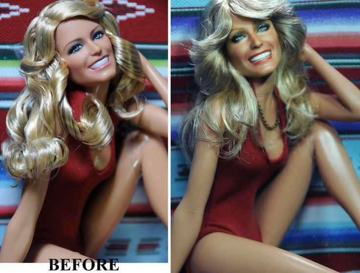 Farrah Fawcett Charlie's Angels doll repaint by noeling on DeviantArt