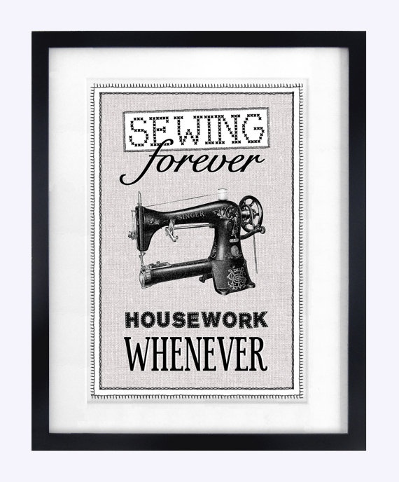 Quote Print Home Print Art Print Sewing Print by oflifeandlemons, $18.70